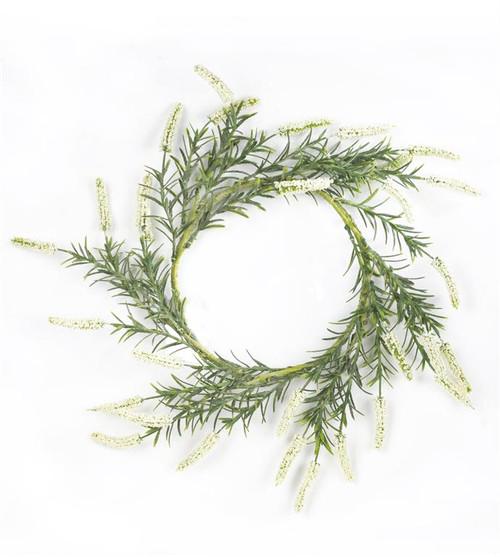 "White Lavender Wreath, 16"""