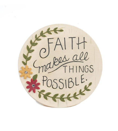 """Faith...All Things Possible"" - Resin Plaque"