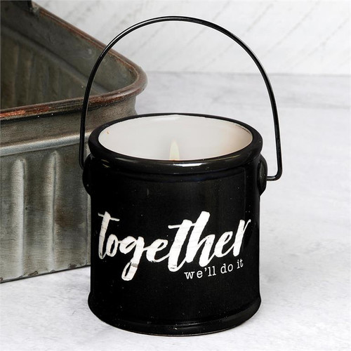 """""""Together We'll Do It"""" - Crock Candle (Buttered Maple Syrup)"""