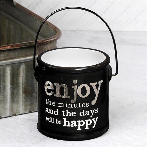 """Enjoy The Minutes"" - Ceramic Crock (Empty)"