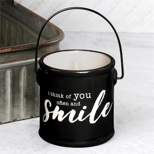 """""""Think of You Often"""" - Crock Candle (Buttered Maple Syrup)"""