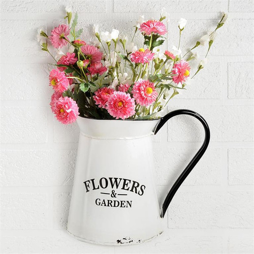 """Flowers & Garden"" - Enamelware Pitcher"