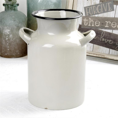 Grey Enamelware Jug With Handles