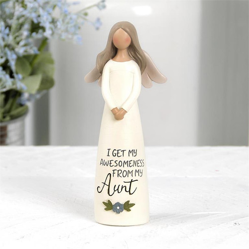 """""""Awesomeness From My Aunt"""" Angel - Resin Figurine"""