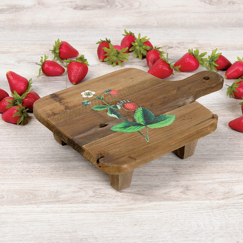 Strawberry Recycled Wood Bread Board Stand