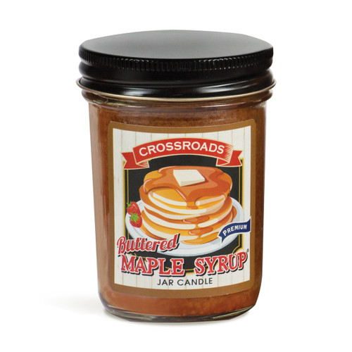Buttered Maple Syrup - 6 oz. Half Pint Candle