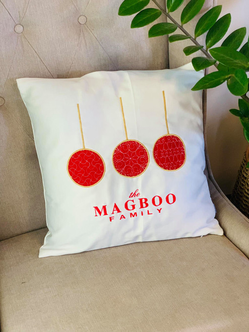 Personalized Christmas Cushion Cover