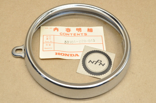 NOS Honda Z50 K3-1978 Mini Trail 50 Head Light Bezel Ring Rim 33101-028-013