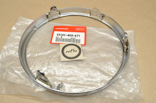 NOS Honda CB1000 CB450 K5-K7 CB500 CB550 CB750 CX500 GL1000 GL1200 GL650 Head Light Bezel Ring Rim 33101-405-671