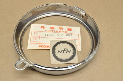 NOS Honda 1977-79 FL250 Odyssey Head Light Bezel Ring Rim 33101-950-003