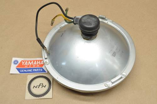 NOS Yamaha 1964-66 YA6 Stanley Head Light Lens Sealed Beam 12V 35/25W 136-84320-60