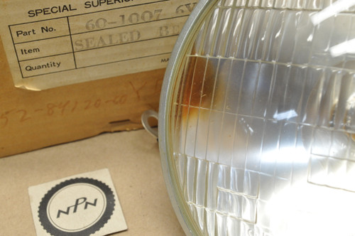 NOS Yamaha 1962 YDS2 1965-66 YDS3 YM1 Head Light Lens Sealed Beam 6V 35/25W 152-84120-60