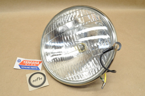 NOS Yamaha 1962 YDS2 1965-66 YDS3 YM1 Stanley Sealed Beam Head Light Lens 6V 35/25W 152-84120-60