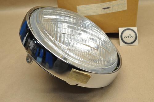 NOS Yamaha 1980-82 SR250 Stanley Sealed Beam Head Light Lens & Bezel Trim Ring Assembly 12V 50/35W 3Y6-84310-60