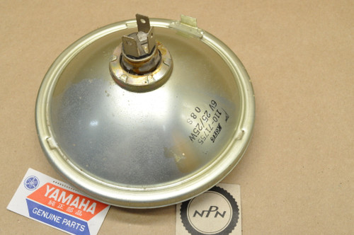 NOS Yamaha 1974-75 DT175 1975 RS100 Koito Sealed Beam Head Light Lens 6V 25/25W 443-84120-61