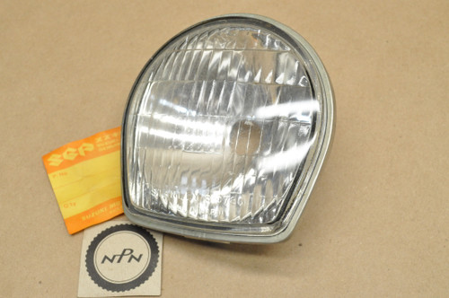 NOS Suzuki 1971 AC50 AS50 1973 MT50 Head Light Lens 6V 15/15W 35121-05610