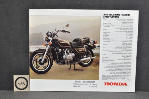 NOS Honda 1980 Honda GL1100 Gold Wing Brochure