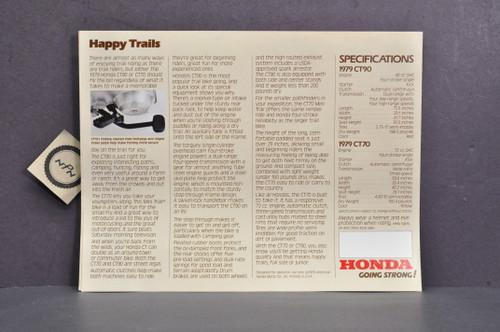 Vintage NOS 1979 Honda CT90 Trail 90 CT70 Trail 70 Brochure