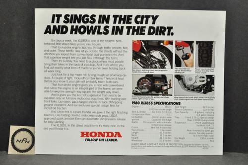 Vintage NOS 1980 Honda XL185 S Brochure Spec Sheet Flyer