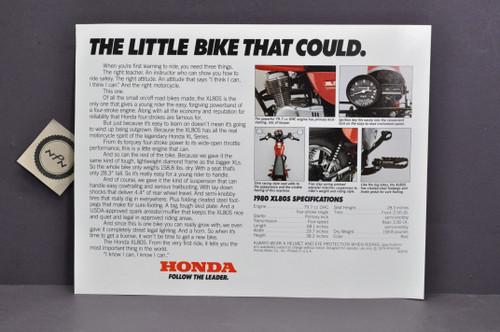 Vintage NOS 1980 Honda XL80 S Brochure Spec Sheet Flyer