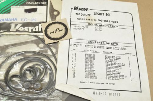 NOS Yamaha 1985-86 BW200 1982-83 XT200 Complete Top & Bottom Gasket Set