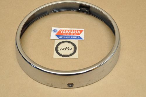 NOS Yamaha YDS2 YDS3 YR1 YR2 Chrome Head Light Bezel Rim Ring 152-84115-01