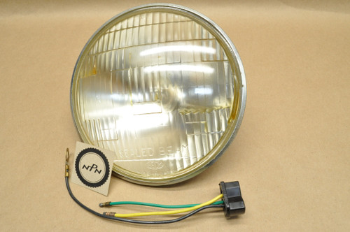 NOS Yamaha YM1 1962 YDS2 1965-66 YDS3 Head Light Lens Sealed Beam 6V 35/25W 152-84120-60