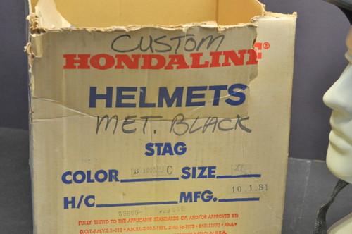Vintage NOS 1981 Honda Hondaline Shoei Custom S/S Stag Helmet XL