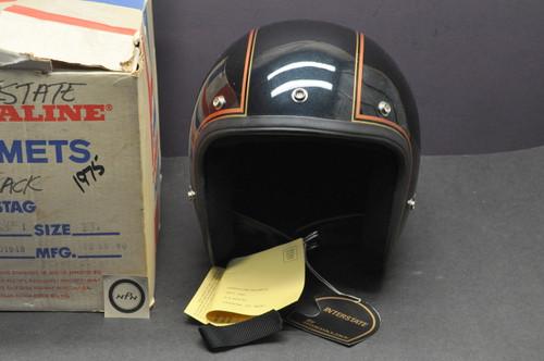 Vintage NOS 1980 Honda Hondaline GL1100 Goldwing Interstate Shoei S/S Stag Helmet XL