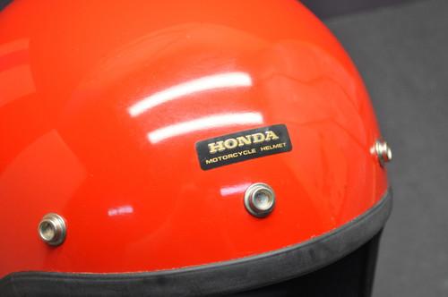 Vintage NOS 1982 Honda Hondaline Shoei Standard Stag Red Motorcycle Helmet S
