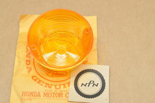 NOS Honda CB350 CB750 CL350 CL450 CL90 CT70 CT90 MT250 S90 ST90 XL250 XL350 XL70 Turn Signal Lens 33402-268-671