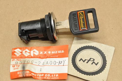 NOS Suzuki 1986 GV1400 Cavalcade Fuel or Cowling Lid Lock with Key 95700-24A00 -KEY