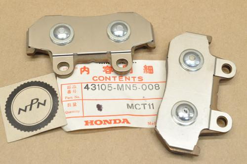 NOS Honda 1988-89 GL1500 Gold Wing Rear Wheel Brake Caliper Pad Set for 1 Caliper = 2 Pads 43105-MN5-008