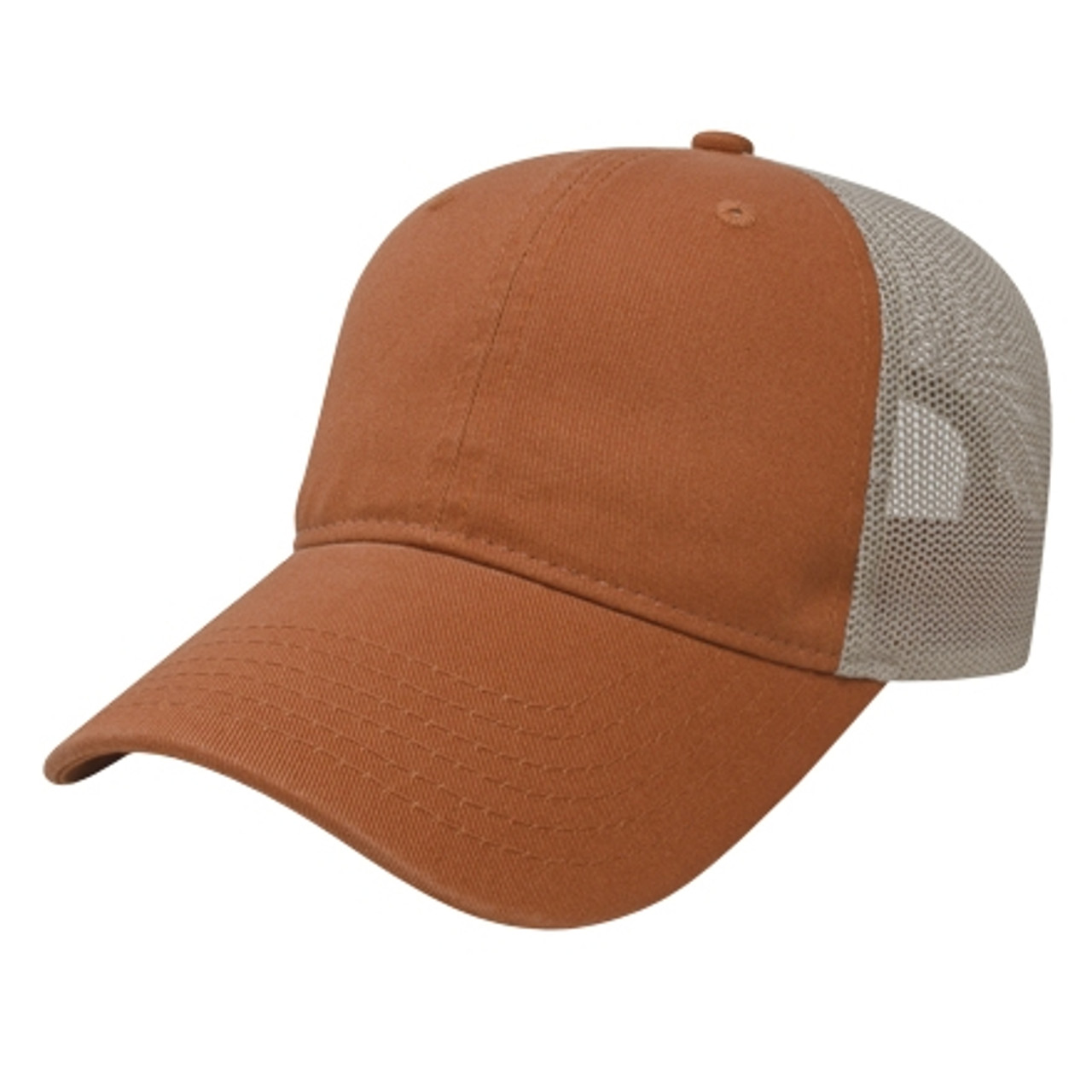 Embroidered Washed Chino Twill, Unstructured Soft Mesh Back Hat