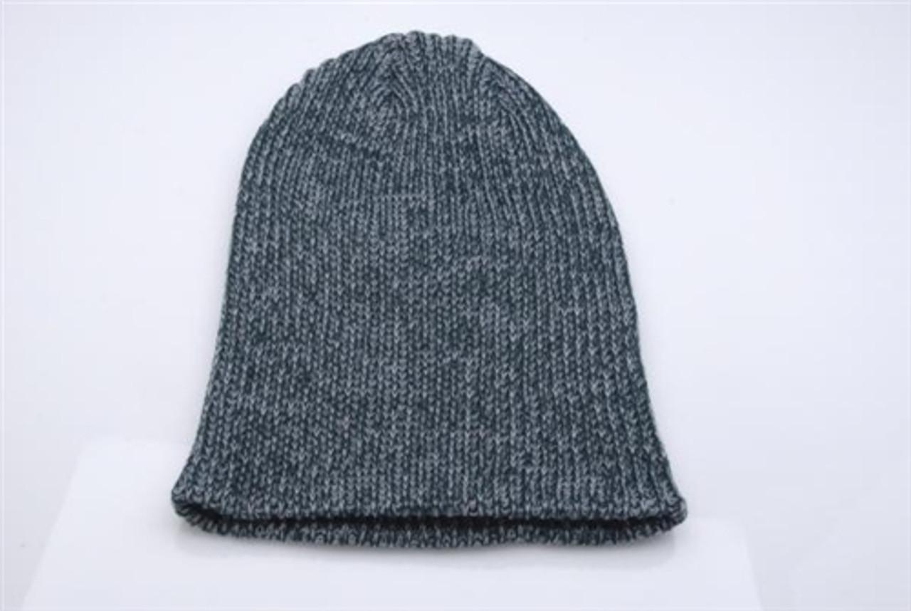 Embroidered Melange Knit Cap