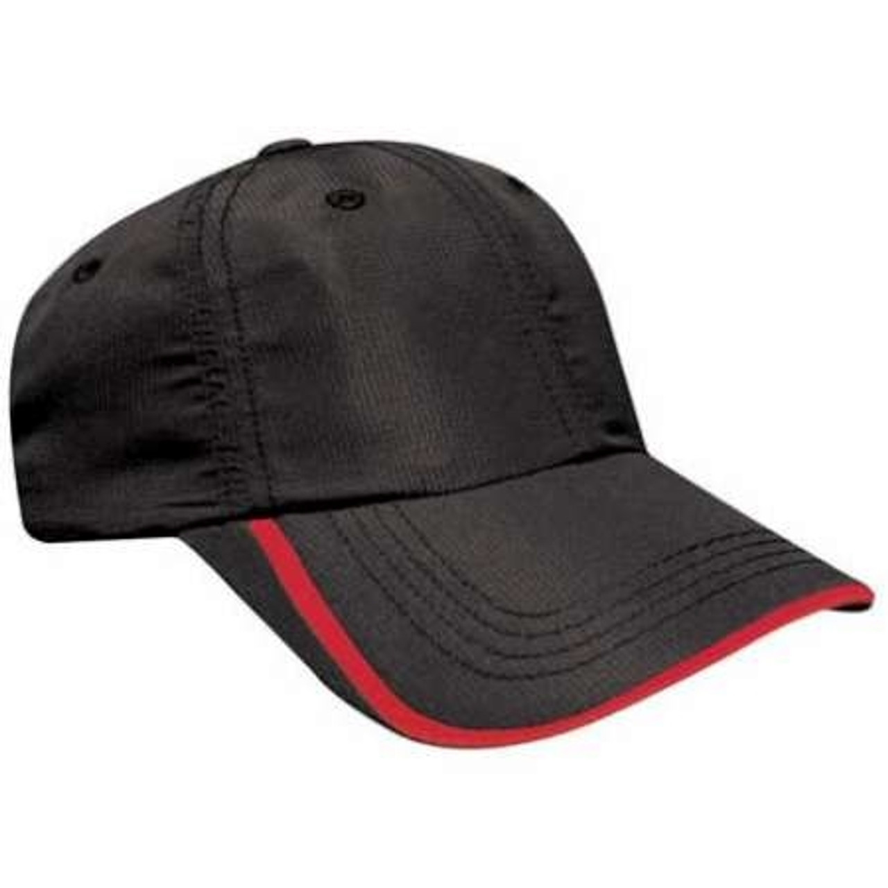 Custom RIP Stop Performance Hat with Stripe Accent
