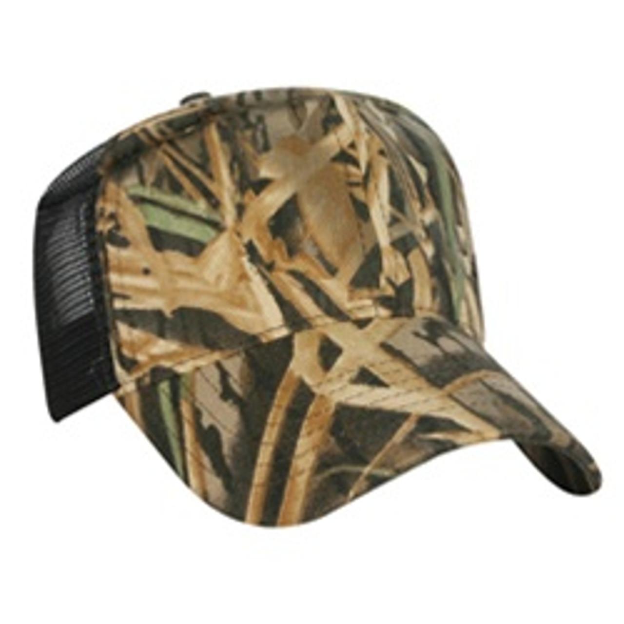 Custom Structured Mossy Oak Military High Profile Mesh Cap