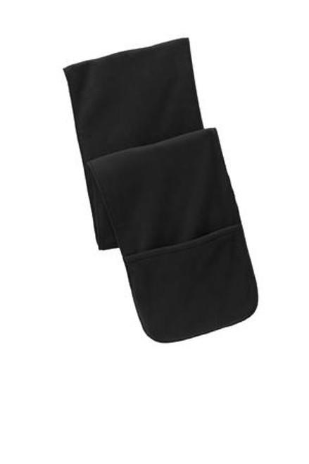 Custom Extra Long Fleece Scarf with Pockets