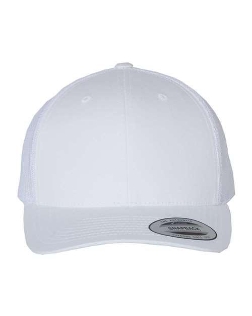 Custom Retro Flexfit Brand Trucker Hat, Plastic Snap