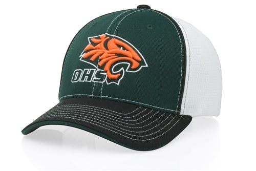 Embroidered Sport Mesh Cap w-Piping