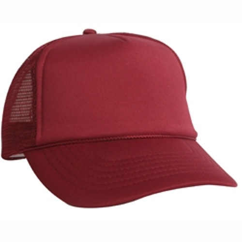 Custom Youth Solid Color Traditional Mesh Back Trucker Hat