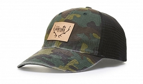 Embroidered Garment Washed Camo Trucker Hat