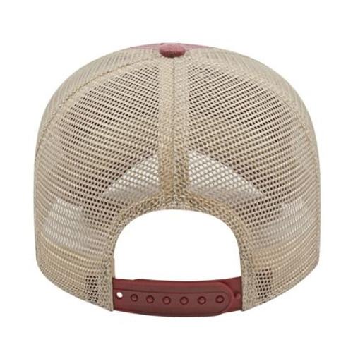 Custom Embroidered Washed Mesh Back Hat