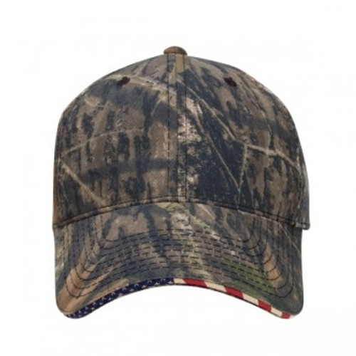 Custom Official Camo USA Patriotic Structured Cotton Hat 1