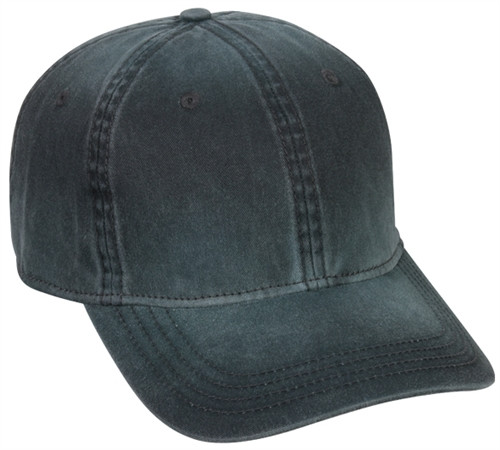 Embroidered Pigment Dyed Unstructured Cotton Twill Hat
