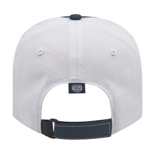 Custom Embroidered Modified Two-Tone Flat Bill Hat