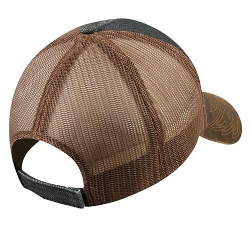 Custom Denim Mesh Back Hat w-Weathered Cotton Visor