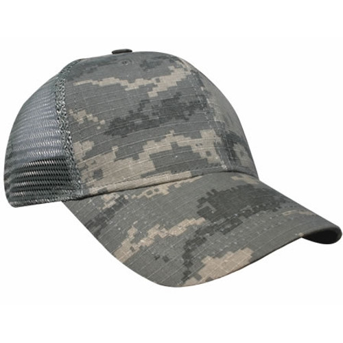 Custom Digital Camo, Mesh Back Hat with Plastic Snap Closure