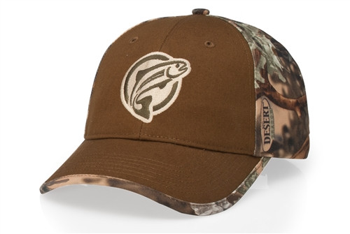 Embroidered Duck Cloth Camouflage Cap