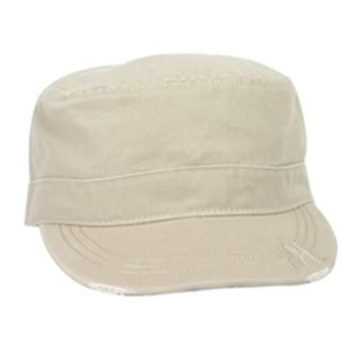 Custom Distressed Surplus Military Chino Cotton Hat